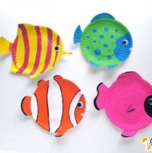 手工diy制作出儿童餐盘小鱼卡通画 可爱呆萌的小鱼卡通画 简单制作教程图解