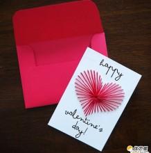 简单漂亮的七夕情人节爱心贺卡手工制作教程图解 虽简单但富有创意的手工贺卡