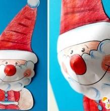 卡通圣诞节圣诞老人等的的剪纸涂绘  亲子活动圣诞节手工剪纸涂绘  手工涂绘剪纸教程图解