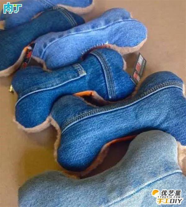 利用废旧牛仔裤手工制作的各种小东西 手工diy改造牛仔裤 废旧牛仔裤