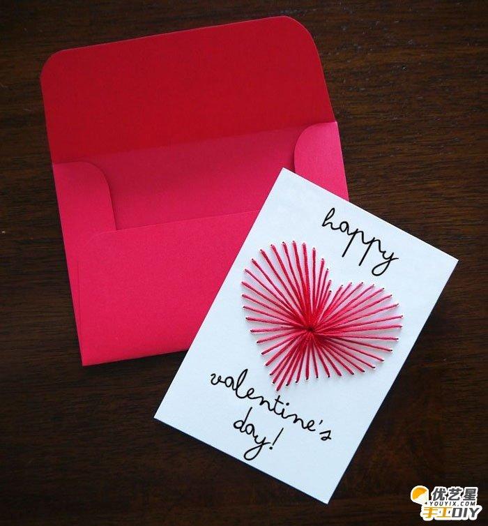 虽简单但富有创意的手工贺卡