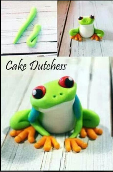 形象逼真的青蛙软陶粘土手工制作教程图解 可爱中带有