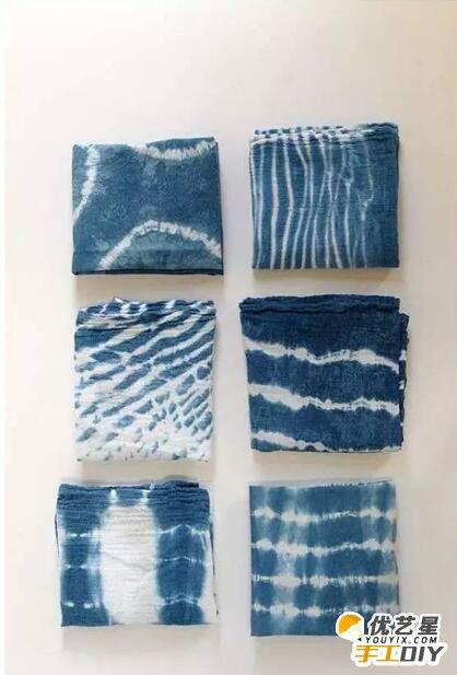 颜料扎染抱枕的手工制作图解教程 扎染的步骤制作图解