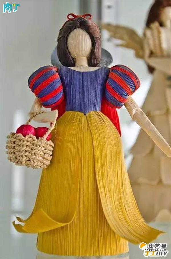 旧物玉米皮的创意手工diy制作教程 用玉米皮手工制作漂亮的玉米片娃娃