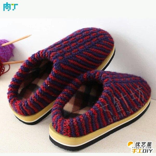 钩编宝宝鞋鞋底图解