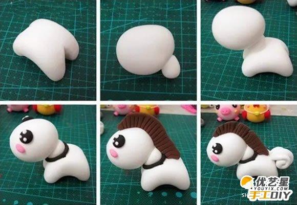 可爱卡通小马的手工粘土制作教程 如何自制可爱的粘土