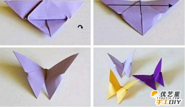 如何手工制作出漂亮精致的蝴蝶 简单的折纸过程得到diy新颖独特的小