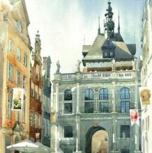 水彩风格欧洲城市建筑与风景绘画 插画师Michal Suffczynski