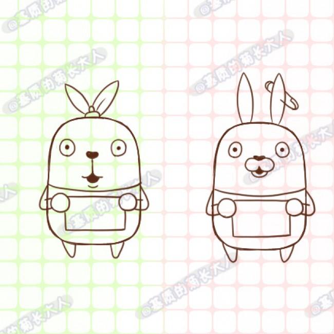 越狱兔怎么画?卡通可爱的越狱兔绘画技巧教程(2)
