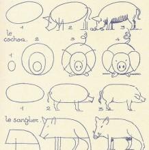 常见的小动物卡通简笔画怎么画 一组国外很流行的小动物画法教程