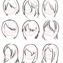 24款女生发型的画法 女生的头发怎么画简单示范