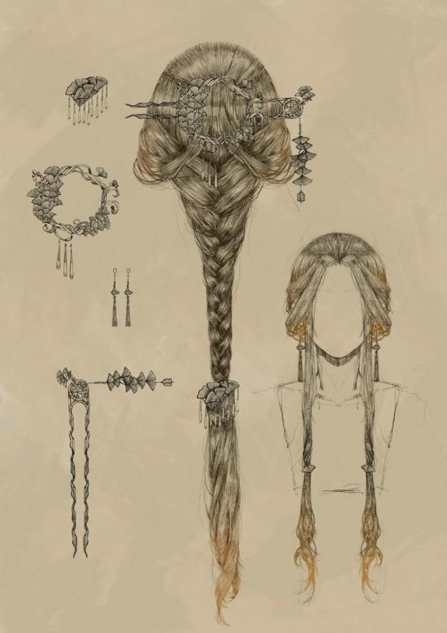 超精美的古代女性发型和配饰发簪的演示和素材唯美古风 才艺君图片