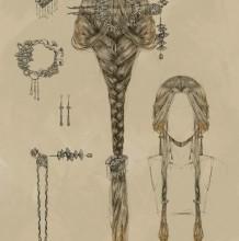 超精美的古代女性发型和配饰发簪的演示和素材 唯美古风