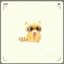 各种可爱的小动物彩铅画作品 插画师嘎嘣豆