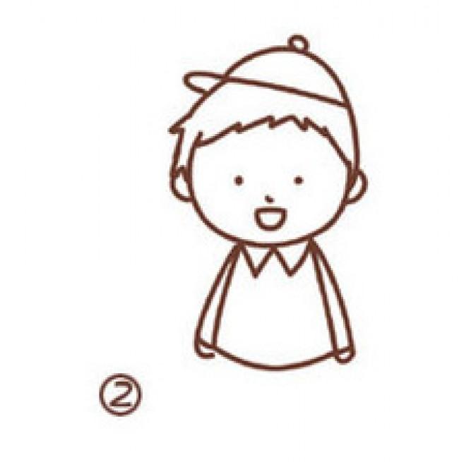 可爱的男孩女孩卡通小人漫画画法和教程 男孩女孩简笔
