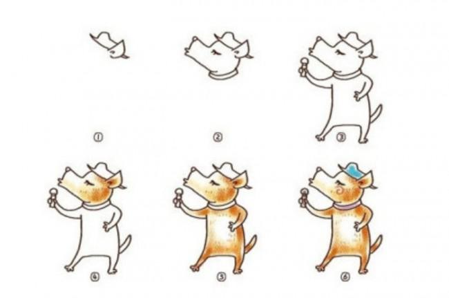 14款很简单的小动物卡通画绘画教程 小动物简笔画合集