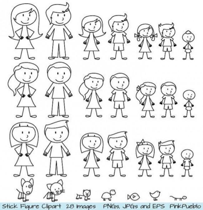 超简单男孩女孩简笔画画法各种版本图解 才艺君