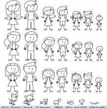 超简单男孩女孩简笔画画法各种版本图解