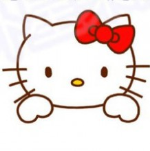 Hello Kitty 猫头像卡通画画法 手绘教程 简笔画