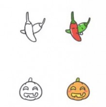 可爱蔬菜卡通画怎么画 简单简笔画画法教程