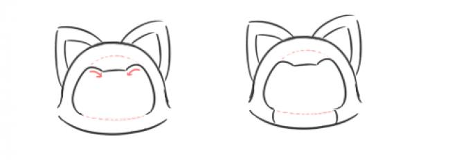 阿狸是大家都很喜欢的一个卡通造型,最早是起源于表情包好像。到后来有了很多心灵鸡汤一样的漫画语录和故事。很多女生都很喜爱阿狸。今天我们就要自己画一只可爱的小狐狸阿狸。 我们首先画阿狸的头顶的弧线。  然后是下巴的地方衔接起来,再加上大大的狐狸耳朵。  画五官了,五官是在内部的一圈。  有了眼睛鼻子之后更加的逼真形象了吧。  加上可爱的小手手。 来源:微博/网络  原作者:@ 图片水印