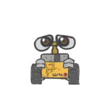 机器人瓦力怎么画?机器人瓦力卡通画画法 瓦力简笔画手绘教程