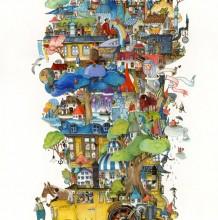 充满想象力的奇幻童话风插画图片
