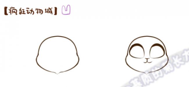 可爱q版疯狂动物城小兔子朱迪卡通画画法 简笔画教程