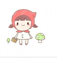 善良可爱的小红帽简笔画 儿童卡通画教程 轻松学习小红帽的画法