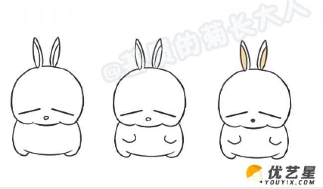 简笔画卡通流氓兔兔子的画法教程儿童简单易学的小兔子 才艺君