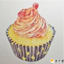 可爱漂亮又美味的蛋糕怎么画?  精美漂亮蛋糕的手绘画教程