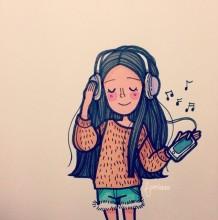 追求高品质生活的女生插画欣赏 丰富多彩的休闲生活 提升你的气质修养