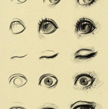 不同眼睛眼神和不同造型鼻子的绘画教程 各种不同眼睛和鼻子怎么画 眼鼻嘴发型绘图
