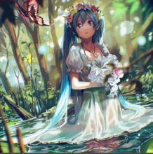 森林中穿婚纱的萝莉美少女插画完整绘画教程  ps清晰的美女插画教程