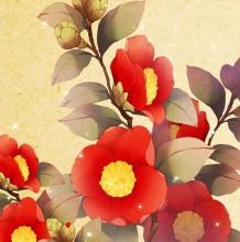 唯美逼真的茶花手绘与PS结合绘画教程 茶花怎么画 古风风格的茶花绘画教程