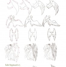 逼真的翅膀and羽毛形状怎么绘画? 手把手教你霸气的翅膀绘画教程