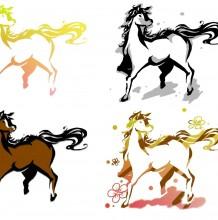 怎么学会描绘一只动态的马 分解马的画画教程ps教你画整体动态马