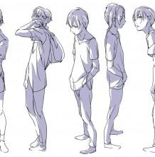 帅气的男学生插画怎么绘画? 教你从不同的姿势绘画 帅气男生画画教程