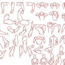 各种不同角度手臂漫画绘画步骤教程  人物的千变万化运动手臂姿态素材教程