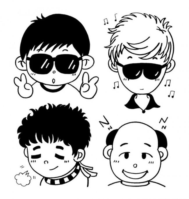 20款简单可爱的小男孩简笔画素材 小男生男孩子卡通画