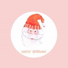 圣诞主题温馨水彩画作品 简单的圣诞节儿童画系列作品
