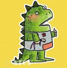 恐龙儿童画 恐龙卡通图片 儿童恐龙简笔画 恐龙简笔画颜色