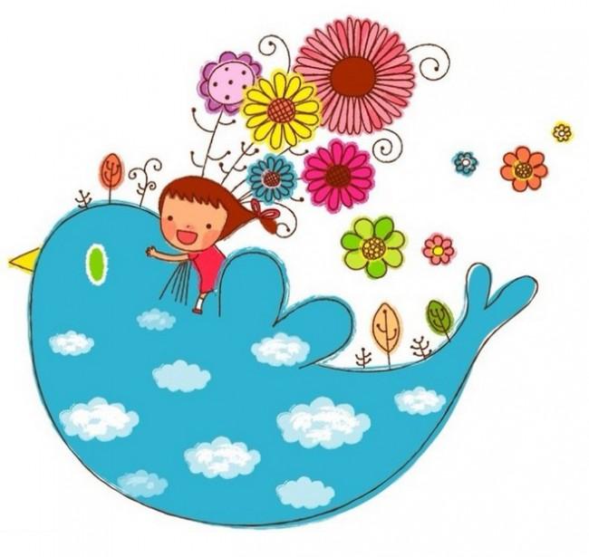 幼儿小鸟画图片 小鸟简笔画彩色 儿童画小鸟图片 小鸟