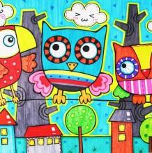 幼儿小鸟画图片 小鸟简笔画彩色 儿童画小鸟图片 小鸟图片简笔画彩图