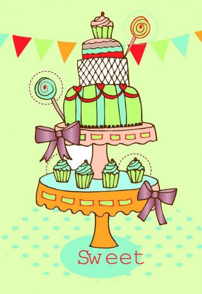 还是彩笔什么的都是可以的。这里也为大家选择了很多款,大家可以选择自己喜欢的来画。当然也可以发挥自己的想象力来进行创作。只要大的感觉对了就没有问题。 需要注意的是蛋糕一般都是一层一层的缩小,像一个宝塔一样的造型,生日蛋糕上会有很多装饰,比如水果或者动物做成的图案,另外就是蛋糕上会有生日蜡烛。这几个特征抓住了就可以了。  来源:微博/网络  原作者:@ 图片水印