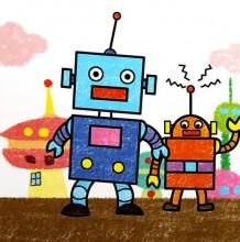机器人简笔画图片大全 儿童画机器人图片 机器人卡通图片 机器人儿童画