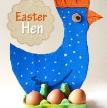 简单创意下蛋母鸡幼儿手工画 鸡蛋托加卡纸加绘画制作有趣母鸡手工