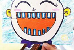 创意有趣的大嘴小孩儿童手工画 有趣互动好玩 吃东西游戏