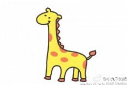 长颈鹿简笔画画法 长颈鹿简笔画怎么画 长颈鹿的简笔画教程
