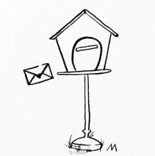小邮箱怎么画 邮箱的画法 邮箱简笔画图片 也可以做小鸟屋哦
